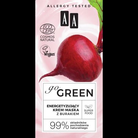 AA GO GREEN energetyzujący krem-maska z burakiem NATURAL