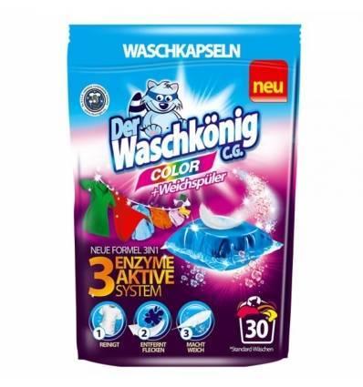 Der Waschkonig kapsułki do prania kolor 30 szt
