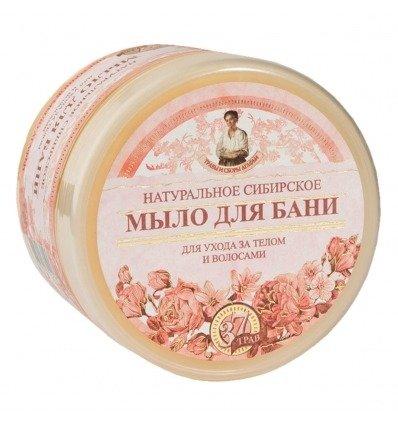 Receptury Babuszki Agafii naturalne mydło do ciała i włosów pielęgnacyjne kwiatowe 500 ml